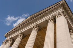 Ionian column capital architectural detail.  Stock Photo