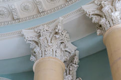 Ionian column capital architectural detail.  Stock Image
