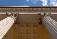Ionian column capital architectural detail Royalty Free Stock Photo