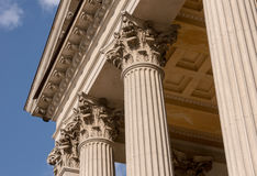 Ionian column capital architectural detail Royalty Free Stock Photos