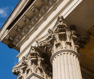 Ionian column capital architectural detail Stock Photos