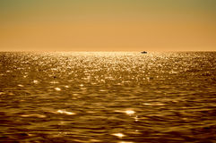 Ionian golden sea Royalty Free Stock Photos