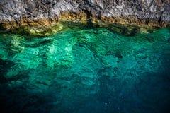 Ionian hav i Zakynthos, Grekland Royaltyfri Fotografi