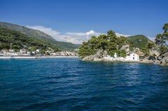 Ionian hav - Parga, Preveza, Epirus, Grekland fotografering för bildbyråer