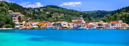 Ionian Islands Of Greece- Paxos, With Turquoise Waters And Pictorial Village Lakka Royalty Free Stock Photo