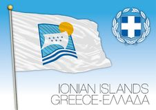 Ionian Islands regional flag, Greece Royalty Free Stock Image