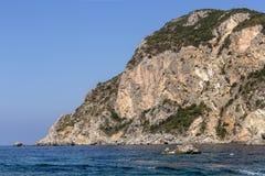Ionian kust Arkivfoton