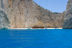 Ionian sea, Bay shipwreck. Bay shipwreck, Zante, Ionian sea Stock Photos