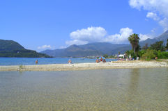 Ionian sea beach Lefkada island,Greece Royalty Free Stock Photography
