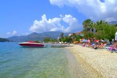 Ionian sea beach Lefkada island,Greece Royalty Free Stock Image
