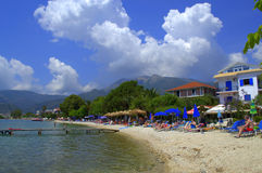 Ionian sea beach,Nydri,Greece Stock Image