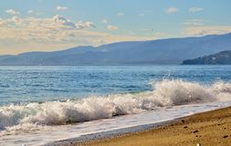 Ionian Sea. In Catanzaro Lido (Italy Stock Images