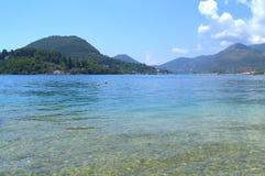 Ionian sea clear water,Lefkada island Stock Photo