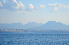 Ionian sea in a cloudy day. Royalty Free Stock Photos