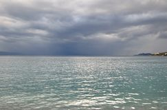 Ionian sea in a cloudy day. Royalty Free Stock Photography
