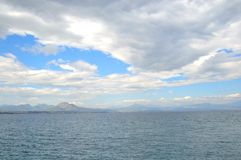 Ionian sea in a cloudy day. Royalty Free Stock Photo