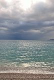 Ionian sea in a cloudy day. Stock Photography