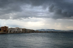 Ionian sea in a cloudy day. Royalty Free Stock Image