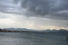 Ionian sea in a cloudy day. Stock Images