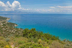 Ionian sea. Coast of the island of Zakynthos in Greece Royalty Free Stock Image
