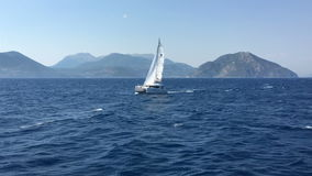 Ionian Sea, Greece, catamaran sail boat.