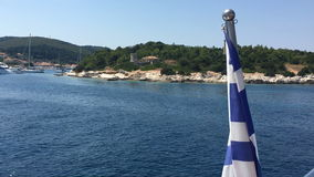 Ionian Sea, Greece, Cephalonia island, Fiskardo village. stock video footage