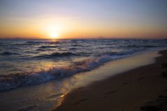 Ionian sea of Greece royalty free stock photo