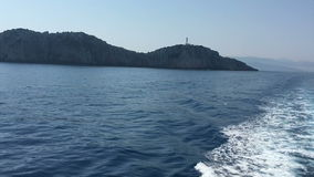 Ionian Sea, Greece, Lefkada island, Cape Lefkada stock video footage