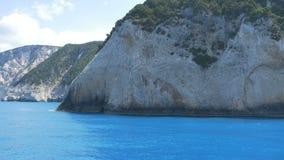 Ionian Sea Island. Beautiful azure sea in the Greece Ionian islands stock video