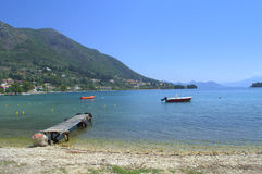 Ionian sea Lefkada island,Greece Royalty Free Stock Photos