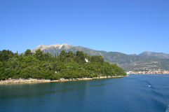 Ionian Sea and Lefkada island view Royalty Free Stock Image