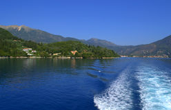 Ionian Sea and Lefkada island view Stock Photos
