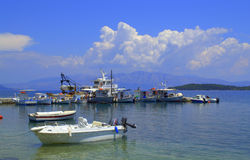 Ionian sea mooring view,Greece Royalty Free Stock Photography