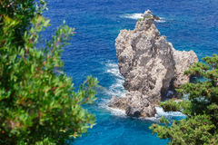 Ionian Sea. Near Paleokastritsa on Corfu Island in Greece Royalty Free Stock Photo