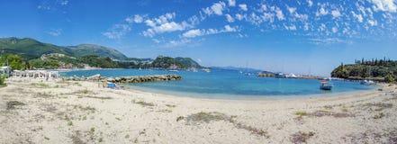 Summer scene - beach Valtos in Parga, Greece - Ionian Sea Stock Photo