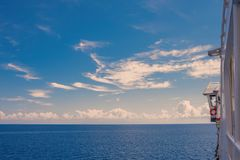 Ionian Sea skyline, a breathtaking view from an open deck of a greek ferryboa Stock Photo