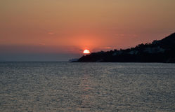 Ionian sea at sunset. Stock Images