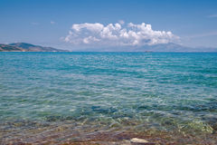 Ionian sea. Transparent and clear Ionian sea Stock Photography
