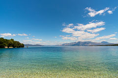 Ionian sea view from Meganisi island Royalty Free Stock Photo
