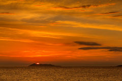 ionian solnedgång Royaltyfri Fotografi