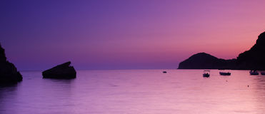 Ionian sunset Royalty Free Stock Images