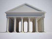Ionic. Roman building with ionic style columns - 3d render Royalty Free Stock Photos