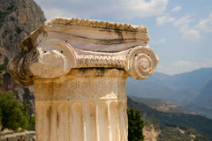 Ionic capital Royalty Free Stock Photos