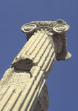 Ionic capital. Ancient greek ionic style column and capital in Turkey stock image
