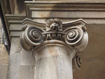 Ionic capital detail stock images
