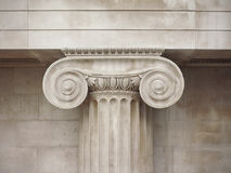 ionic capital detail royalty free stock image