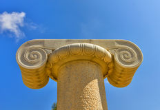 Ionic capital from Greece Island of Naxos Royalty Free Stock Images
