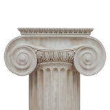 Ionic capital isolated. Capital of the ancient Greek Ionic order isolated over white background royalty free stock photography