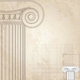 Ionic Classic columns background. Royalty Free Stock Image