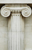 Ionic column. Column of the classic ionic style in white stone royalty free stock photography
